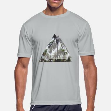 Sky Tree Palm tree, sky in a geometric signs - Men's Moisture Wicking Performance T-Shirt