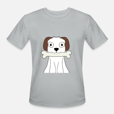 Ear Dogs white dog with brown ears - Men's Sport T-Shirt