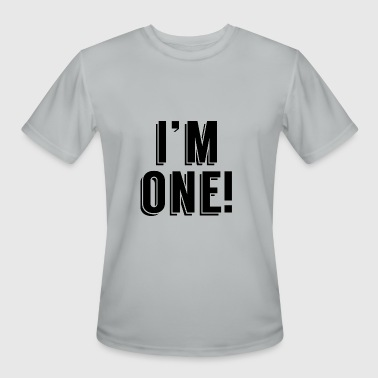 Im One Birthday I'm One! First Birthday - Men's Moisture Wicking Performance T-Shirt