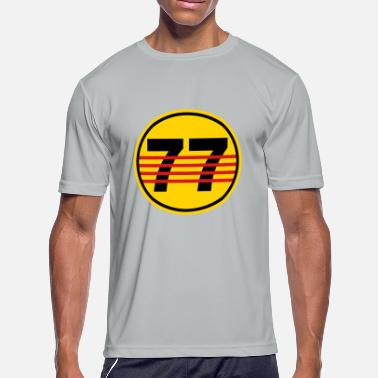 Number 77 number 77 - Men's Moisture Wicking Performance T-Shirt