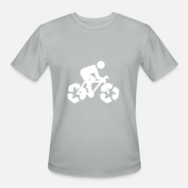 Eco-friendly Message Save Environment Bike - Men's Moisture Wicking Performance T-Shirt