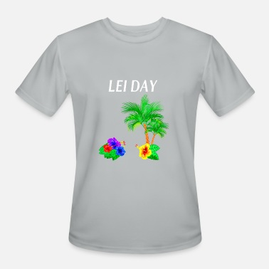 Flower Day Celebration Lei Day Flower Shirt Hula Girl Hawaii hibiscus Pal - Men's Moisture Wicking Performance T-Shirt