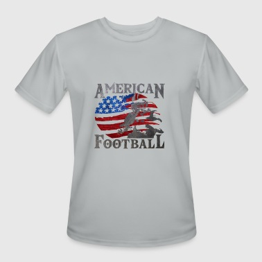 Footballer American Football (American Flag) - Football - Men's Moisture Wicking Performance T-Shirt