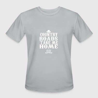 Country Roads Take Me Home - Men's Moisture Wicking Performance T-Shirt