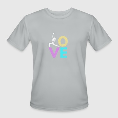 Yoga Stickers Yoga Love design for ashtanga yoga - Men's Moisture Wicking Performance T-Shirt