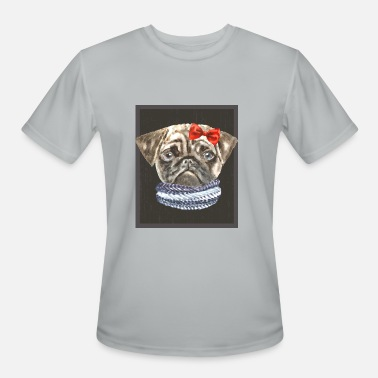 Dog Lover Clothing Pug Bow Scarf Dogs In Clothes - Men's Moisture Wicking Performance T-Shirt