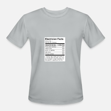 Electrician Apprentice Funny Funny Electrician Facts - Men's Moisture Wicking Performance T-Shirt