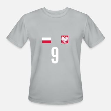 Duma Poland Soccer Jersey Number 9 World Football Cup - Men's Moisture Wicking Performance T-Shirt