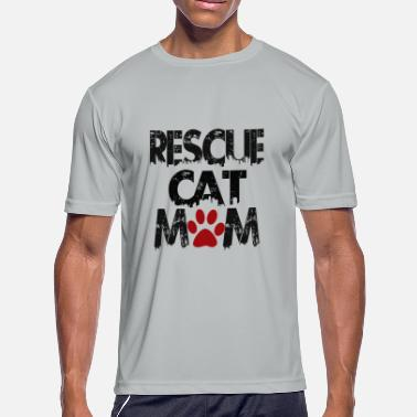 Rescue Cat Mom Rescue cat MOM - Men's Moisture Wicking Performance T-Shirt