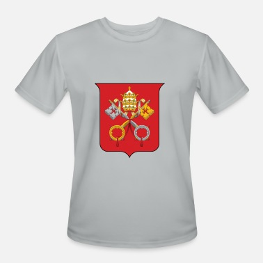 Catholic Original Vatican Coat of Arms Holy See Premium Catholic - Men's Moisture Wicking Performance T-Shirt