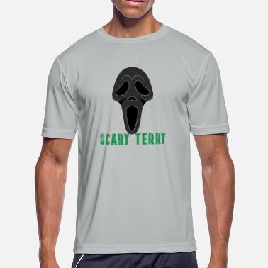 Scary Scary Terry Funny Basketball T-shirt - Men's Moisture Wicking Performance T-Shirt
