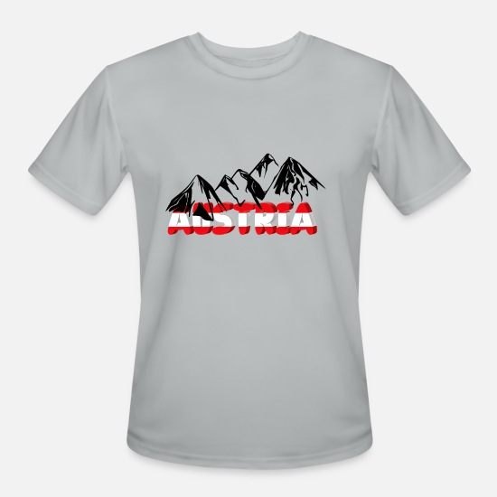 Tyrol T-Shirts - Austria with mountains - Men's Sport T-Shirt silver