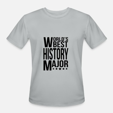 History Majors World's Best History Major - Men's Moisture Wicking Performance T-Shirt