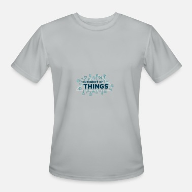 Iot Internet of Things (IoT) - FLOW DESIGN - Men's Moisture Wicking Performance T-Shirt