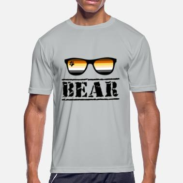 Csd Bear Sunglasses LGBT Gay Pride Community Paw - Men's Sport T-Shirt