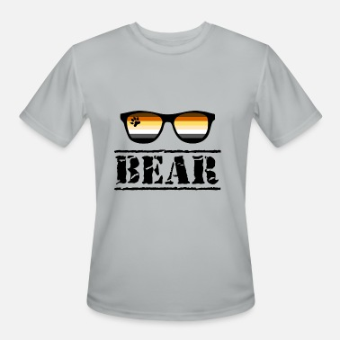 Gay Paw Bear Sunglasses LGBT Gay Pride Community Paw - Men's Moisture Wicking Performance T-Shirt