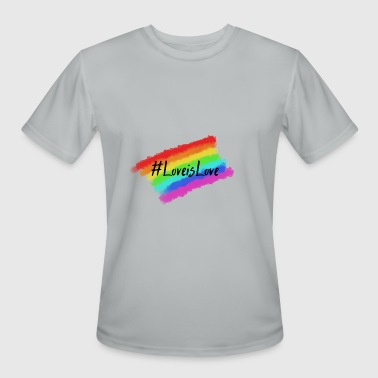 Pride Month LoveisLove LGBT Pride month - Men's Moisture Wicking Performance T-Shirt