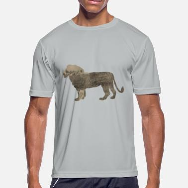 Rhinoceros Silhouette Jungle Series Lion - Men's Moisture Wicking Performance T-Shirt