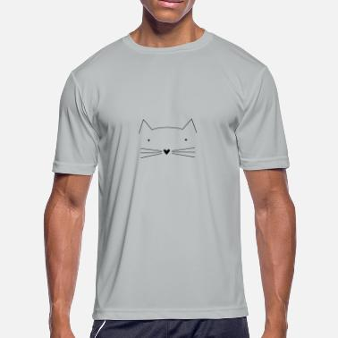 Cat Face Kitten Cat Kitten Face Tomcat - Men's Moisture Wicking Performance T-Shirt