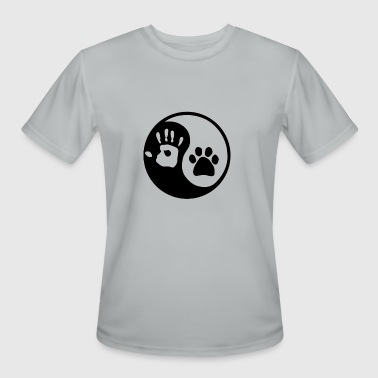 Dog For Humans Yin Yang Dog And Human - Men's Moisture Wicking Performance T-Shirt