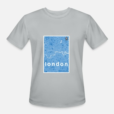 Sky Map London hipster city map blue - Men's Moisture Wicking Performance T-Shirt
