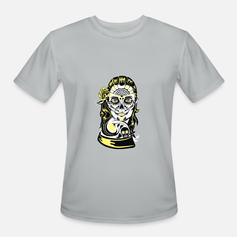 Game T-Shirts - Dia De Los Muertos - Men's Sport T-Shirt silver