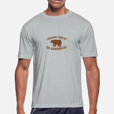 Adirondack Beary Fond of the Adirondack Mountains funny - Men's Moisture Wicking Performance T-Shirt