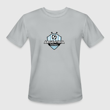 La Albiceleste Argentina Football Emblem - Men's Moisture Wicking Performance T-Shirt