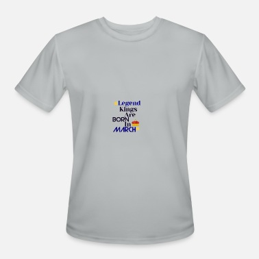 Kings Legends Legend kings are born in March - Men's Moisture Wicking Performance T-Shirt