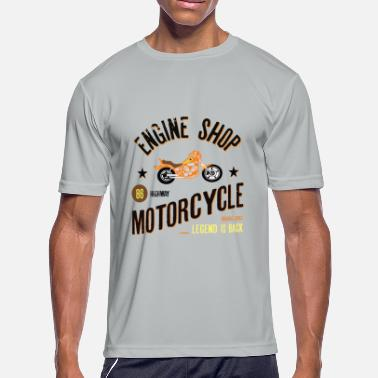 Bike Shop Engine Shop Motorcycle - Men's Moisture Wicking Performance T-Shirt