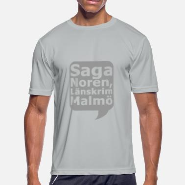 Saga Saga Nore n Laenskrim Malmoe - Men's Moisture Wicking Performance T-Shirt