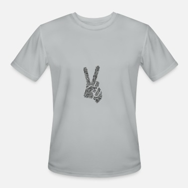 Peace Fingers fingers peace sign - Men's Moisture Wicking Performance T-Shirt