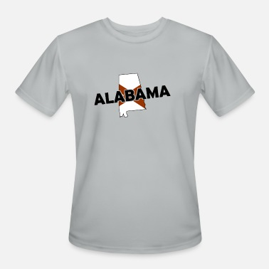 State Border Alabama - State Border - Flag - USA - America - Men's Sport T-Shirt