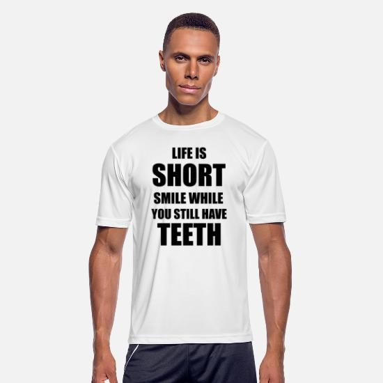 Shortboard T-Shirts - Life is Short... - Men's Sport T-Shirt white