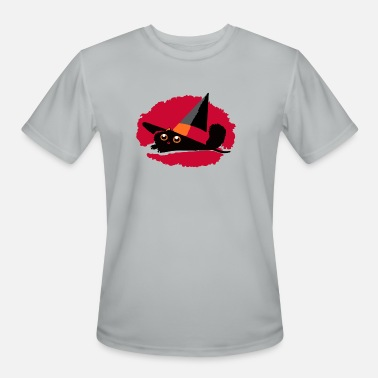 Pointy Cat In a Pointy Hat - Men's Sport T-Shirt