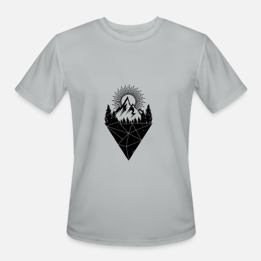 mountain sunset tree iceberg grunge gift - Men's Sport T-Shirt