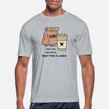 Lunch-boxes what time is lunch - Men's Sport T-Shirt