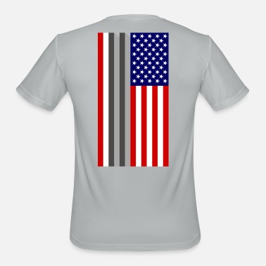 World Trade Center USA Flag - 9/11 World Trade Center Tribute - Men's Sport T-Shirt