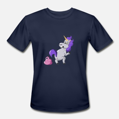 Unicorn Shit Flamingo Shit Happens Unicorn - Men's Moisture Wicking Performance T-Shirt