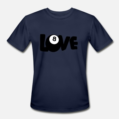 2bf0fdc8 Love 8 Eight Ball Pool Funny Billiards - Men's Sport T-