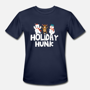Holiday Holiday Hunk Funny Christmas Holiday T-Shirt - Men's Moisture Wicking Performance T-Shirt