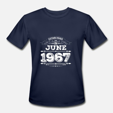 1967 Present Established in June 1967 Present - Men's Moisture Wicking Performance T-Shirt