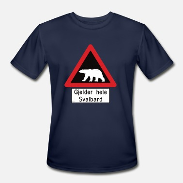 Spitsbergen Svalbard Polar Bear Sign - Gjelder hele Svalbard - Men's Moisture Wicking Performance T-Shirt