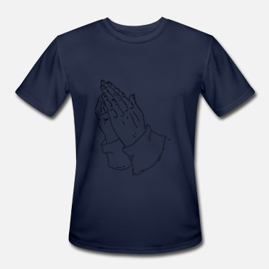 Praying Hands praying hands - Men's Moisture Wicking Performance T-Shirt