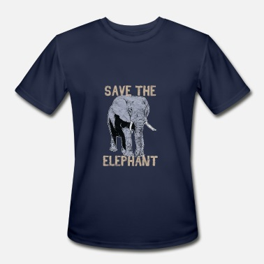 Animal Print - Save The Elephant - Men's Sport T-Shirt