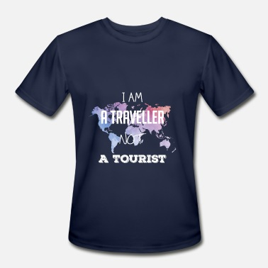 I Am A Traveller I am a traveller not a tourist - Men's Sport T-Shirt