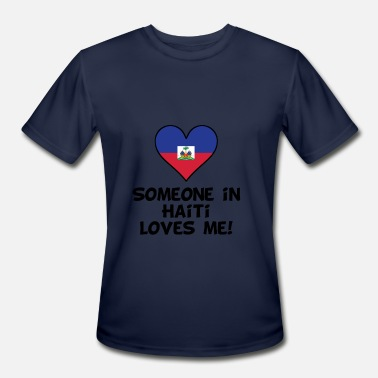 Haiti Kids Someone In Haiti Loves Me - Men's Moisture Wicking Performance T-Shirt