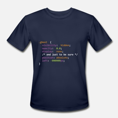 Html Css This Halloween Be A Ghost CSS Ghost Halloween - Men's Sport T-Shirt