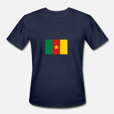Republic Of Cameroon National Flag Of Cameroon - Men's Moisture Wicking Performance T-Shirt