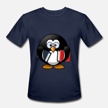 Penguin Beer NERDY PENGUIN BOOKWORM - Men's Moisture Wicking Performance T-Shirt